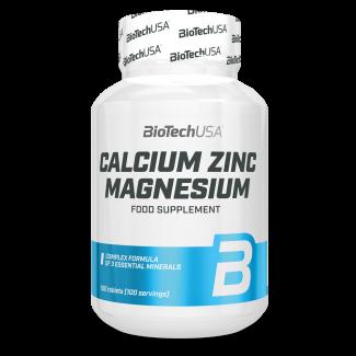 Calcium Zinc Magnesium 100tabs (BIOTECH USA)