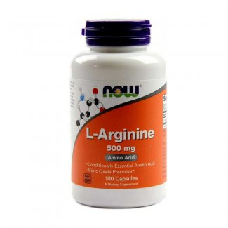 L-ARGININE 500mg 100caps (NOW FOODS)