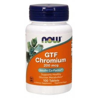 GTF CHROMIUM 200mcg 100tabs (NOW FOODS)