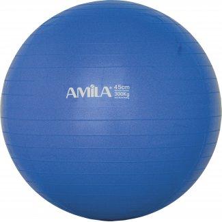 Μπάλα Γυμναστικής AMILA GYMBALL 45cm Μπλε Bulk