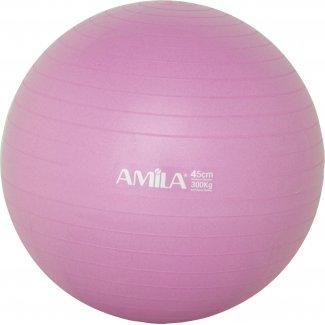 Μπάλα Γυμναστικής AMILA GYMBALL 45cm Ροζ Bulk