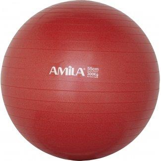 Μπάλα γυμναστικής AMILA GYMBALL 55cm Κόκκινη Bulk